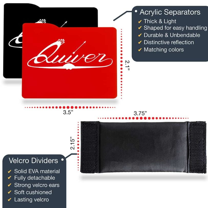 Red and Black Dividers & Separators - Features