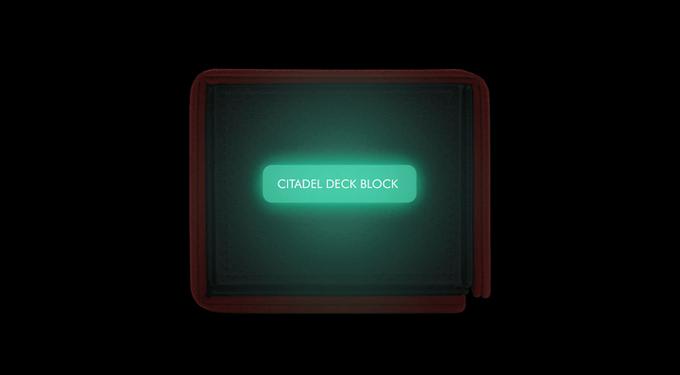 Citadel Deck Block - Phosphorescent tag glows in the dark